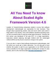 All You Need To know about Scaled Agile Framework Version 4