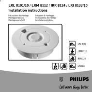 LRL 8101/10 / LRM 8112 / IRR 8124 / LRI 8133/10 ... - Philips Lighting