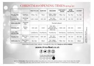Christmas Opening Times 19-20