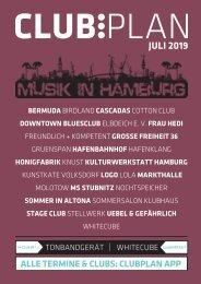 Clubplan Hamburg - Juli 2019