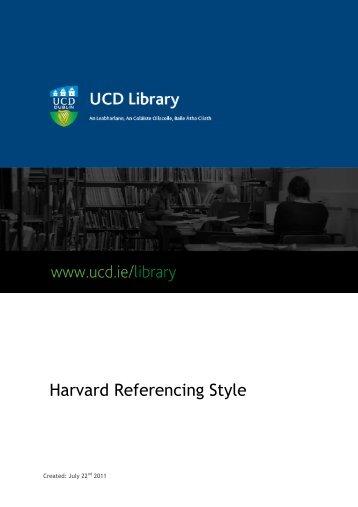 Harvard Style Guide - University College Dublin