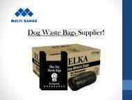 Biodegradable Dog Poop Bags - Multi Range