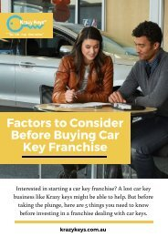 Key Points You Should Know Before Buying a Car Key Franchise