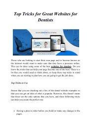Top Tricks for Great Websites for Dentists