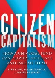 DOWNLOAD PDF Citizen Capitalism: How a Universal Fund Can Provide Influence and Income to All | FULL+ONLINE
