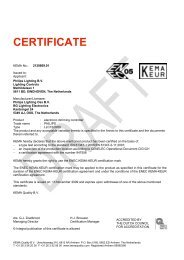 CERTIFICATE - Philips Lighting