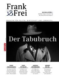 Leseprobe Magazin Frank&Frei 10/2019
