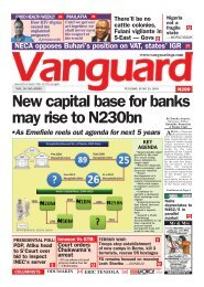 25062019 - New capital base for banks may rise to N230bn