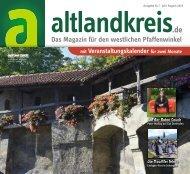 Altlandkreis Ausgabe Juli/August 2019 - Das Magazin für den westlichen Pfaffenwinkel