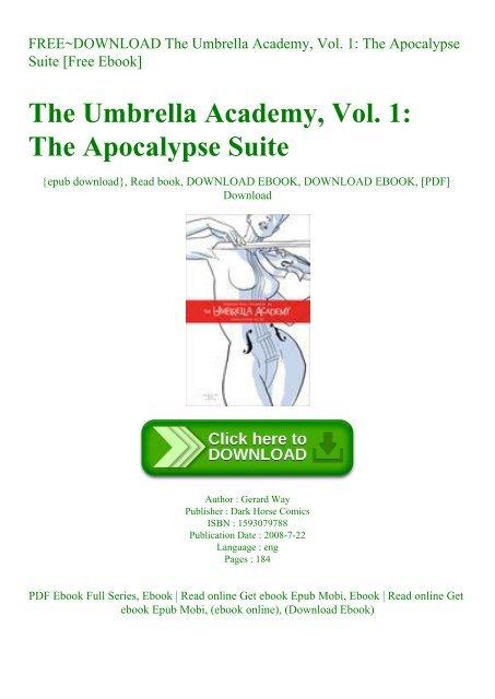 Paperback,2008 Umbrella Academy Volume 1 Apocalypse Suite by Gerard Way English