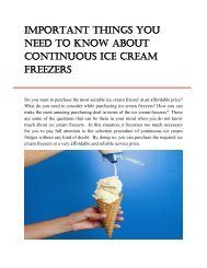 Important Things You Need To Know About Continuous Ice Cream Freezers