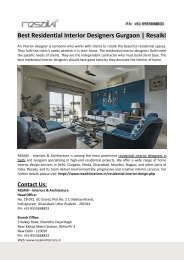 Best Residential Interior Designers Delhi | Resaiki