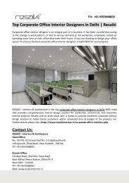 Top Corporate Office Interior Designers in Delhi-Resaiki