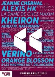 Programme Centre Culturel Michel Manet 2019-2020