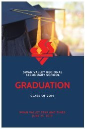 Swan Valley Star and Times - Grad 2019
