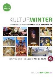 Kulturwinter 2019 • Reisekatalog Dezember & Feiertage