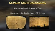 Monday Discussion - Science and God pt 1