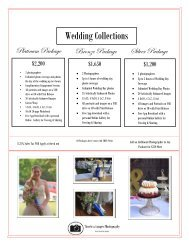 Timeless Images Photography Wedding Package Guide