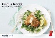 Findus Norge / Nomad Foods - bærekraftsrapport 2018