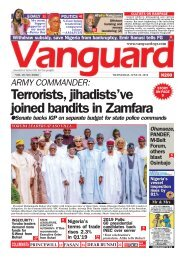 26062019 - Terrorists, jihadists've joined bandits in Zamfara