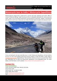 Motorcycle tour to India-Motorcycle Expeditions