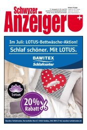 Schwyzer Anzeiger – Woche 26 – 28. Juni 2019