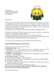 Angebot Verlagsarbeit über Assira-Verlag