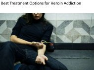Best Treatment Options for Heroin Addiction