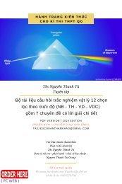 Bộ tài liệu câu hỏi trắc nghiệm vật lý 12 chọn lọc theo mức độ (NB - TH - VD - VDC) gồm 7 chuyên đề có lời giải chi tiết