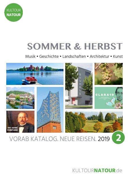 Kultursommer 2019 • Reisekatalog  Juni bis September
