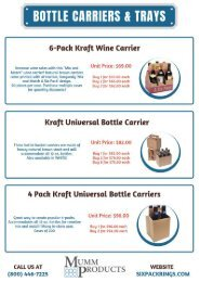 Beer Bottle Carriers and Trays
