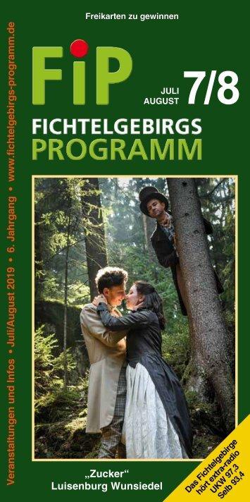 Fichtelgebirgs-Programm - Juli/August 2019