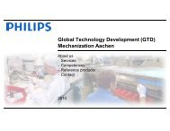 Competences GTD Mechanization Aachen - Philips