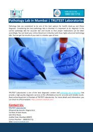 Pathology Lab in Mumbai-TRUTEST Laboratories
