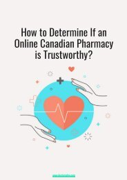 How to Determine If an Online Canadian Pharmacy is Trustworthy.