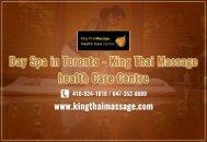 Best Day Spa in Toronto | King Thai Massage Health Care Centre