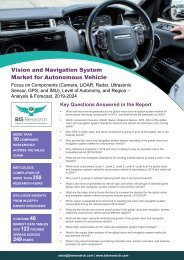 Global Vision and Navigation System Market for Autonomous Vehicle