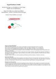 Anleitung - Instruction (PDF) - Robert Lindemann KG