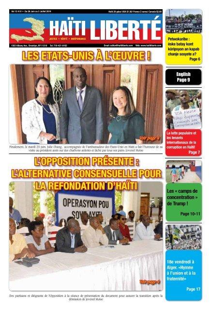 Haiti Liberte 26 Juin 2019