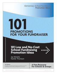 101 Promotions for your Fundraiser