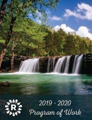 2019-2020 Program of Work