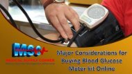 Major Considerations for Buying Blood Glucose Meter kit Online