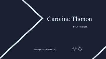 Caroline Thonon - Provides Consultation in Business Management