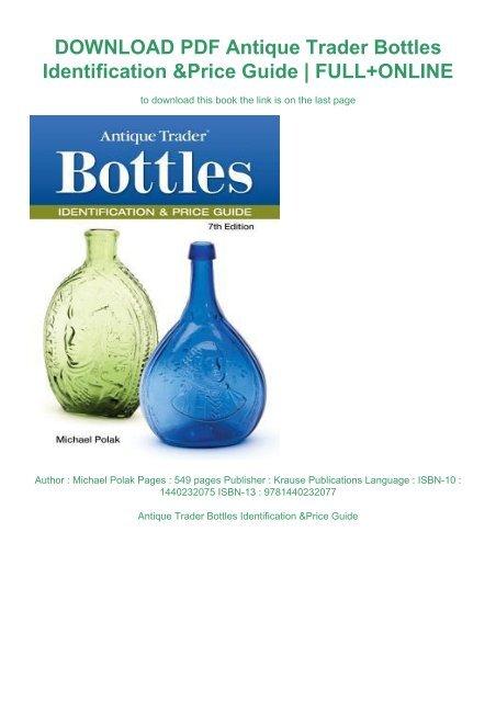 Pdf Antique Trader Bottles