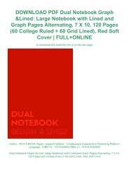 DOWNLOAD PDF Dual Notebook Graph & Lined: Large Notebook with Lined and Graph Pages Alternating, 7 X 10, 120 Pages (60 College Ruled + 60 Grid Lined), Red Soft Cover | FULL+ONLINE