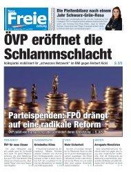 ÖVP eröffnet die Schlammschlacht