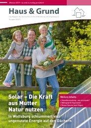 Haus & Grund Wolfsburg und Umgebung e.V. Ausgabe 3/2019 Juni 2019