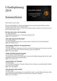 Urlaubsplanung 2019 Buchbestellung ueber Assira-Verlag