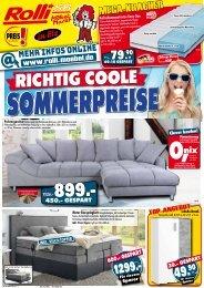 Richtig coole Sommerpreise - Rolli SB-Möbelmarkt, 65604 Elz/Limburg