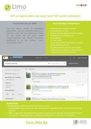 LIBISnet - Limo: Zet uw gebruikers op weg naar het juiste antwoord